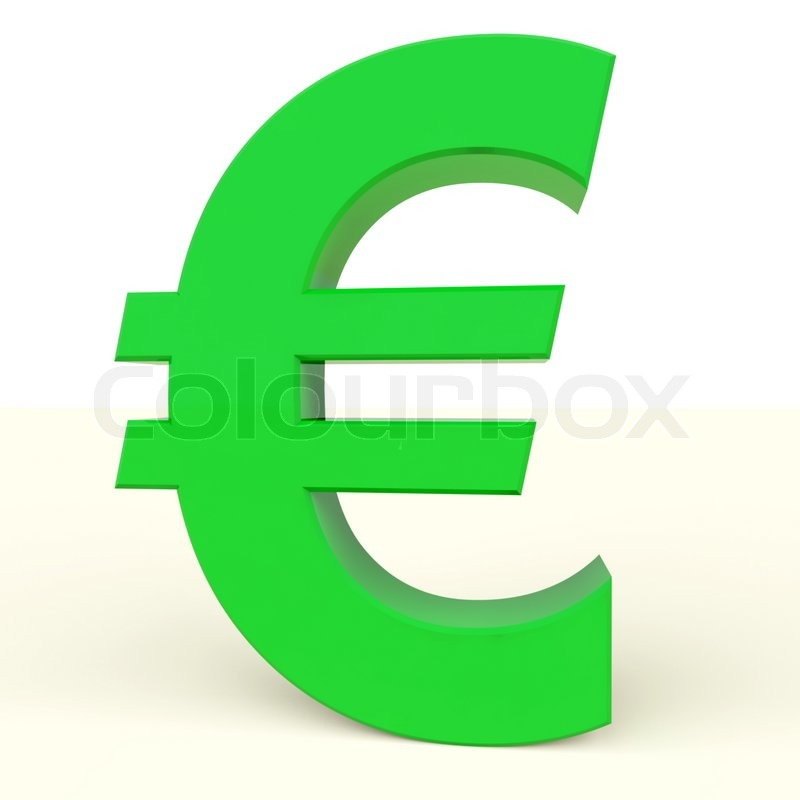 Euro Sign As Symbol For Money Or Wealth In Europe Stock Photo