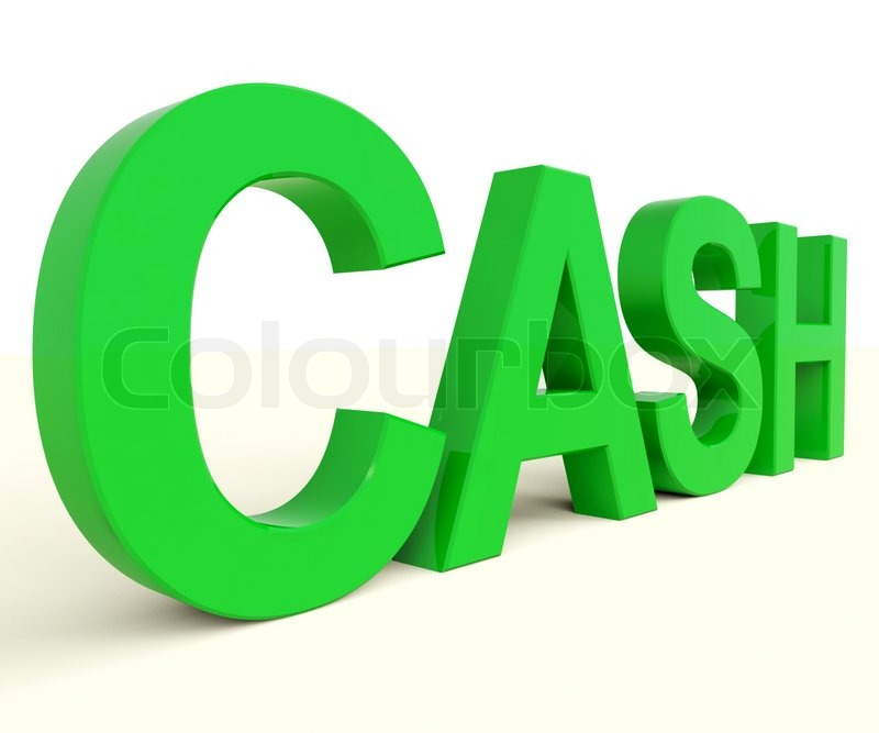 cash word as symbol for currency and finance stock photo colourbox
