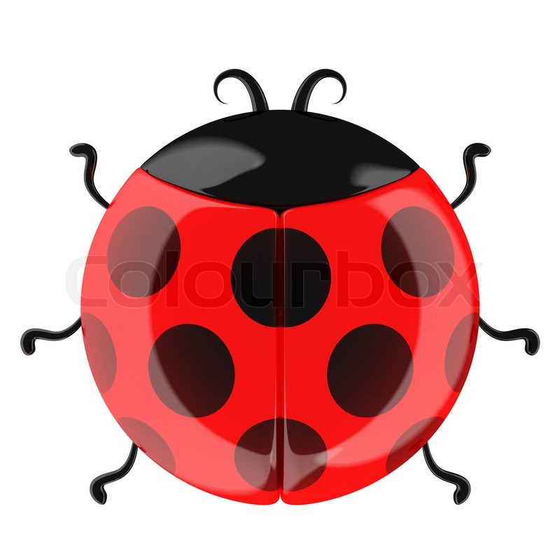 Stock image of 'Cute cartoon ladybug isolated on white'