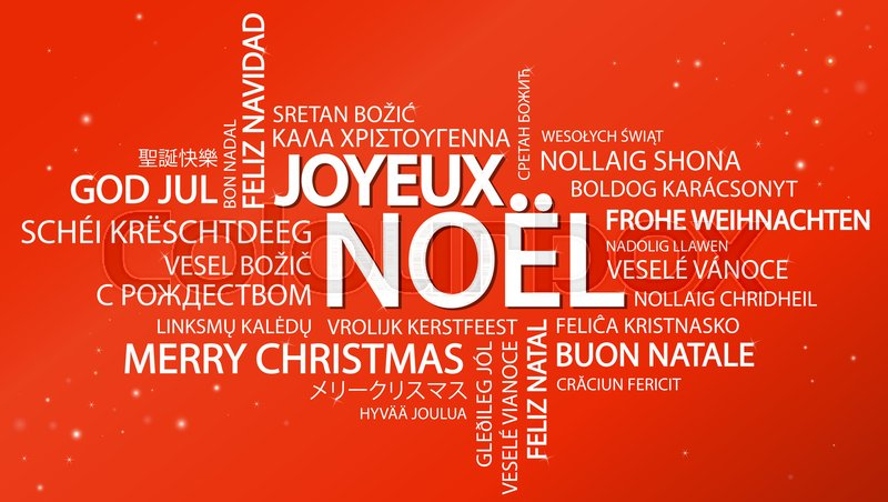 stock vector of word cloud with text merry christmas in different languages in the