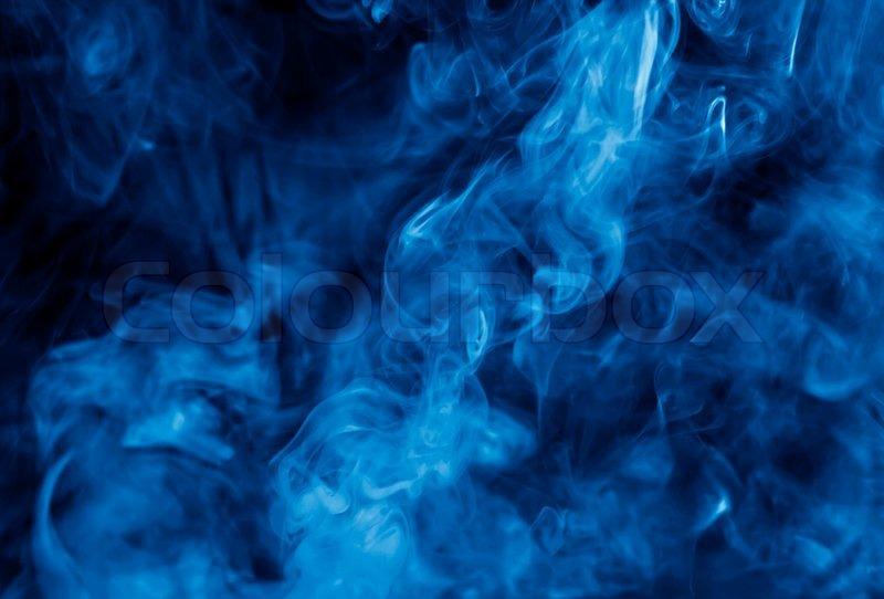Clouds of blue cigarette smoke | Stock Photo | Colourbox