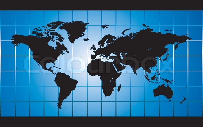 blue world map square background stock vector colourbox