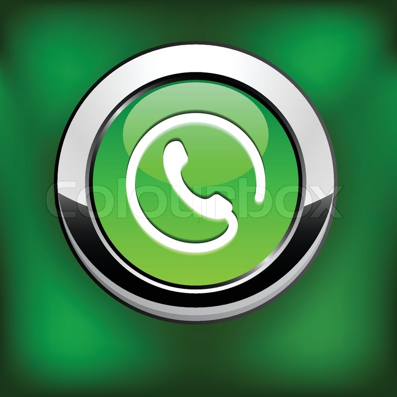 phone green round button for website or app