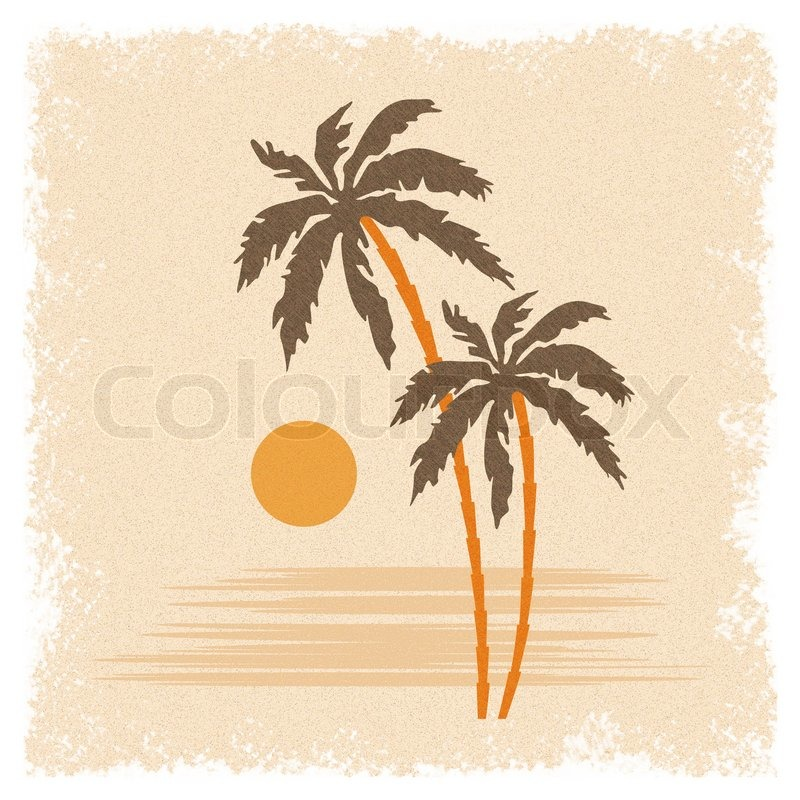 Palm Trees Background Vertical Background With Palm Trees