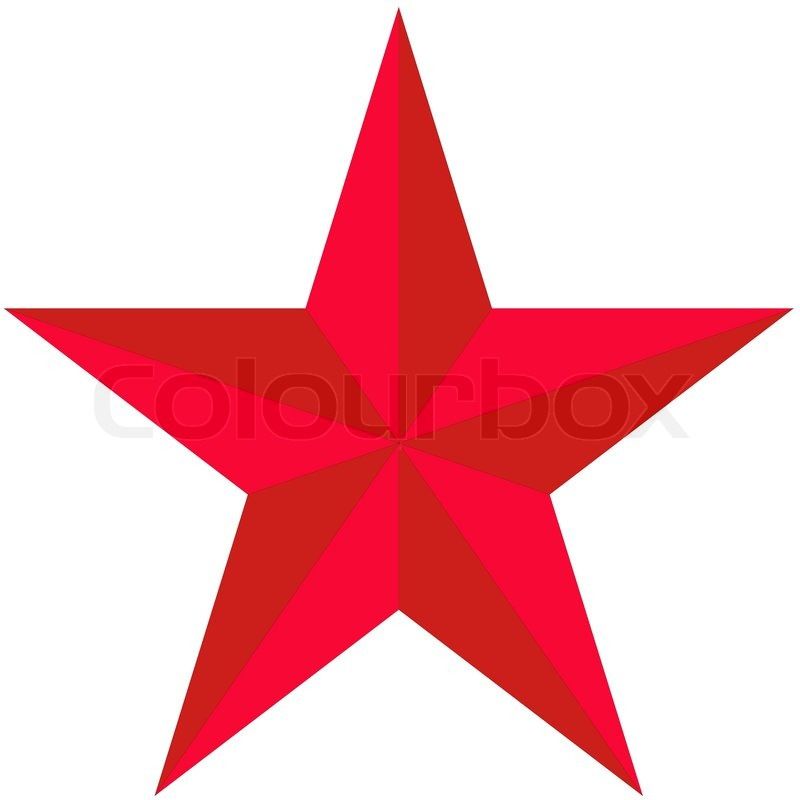 On White Background The Red Star Stock Vector Colourbox