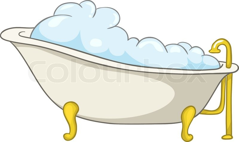 cartoon home washroom tub isolated on white background vector stock vector colourbox. Black Bedroom Furniture Sets. Home Design Ideas