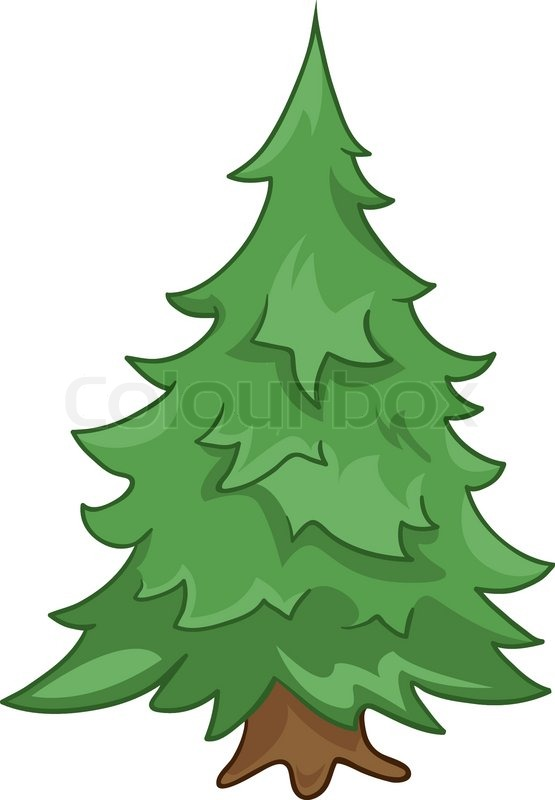 Stock vector of 'Cartoon Nature Tree Fir Isolated on White Background'