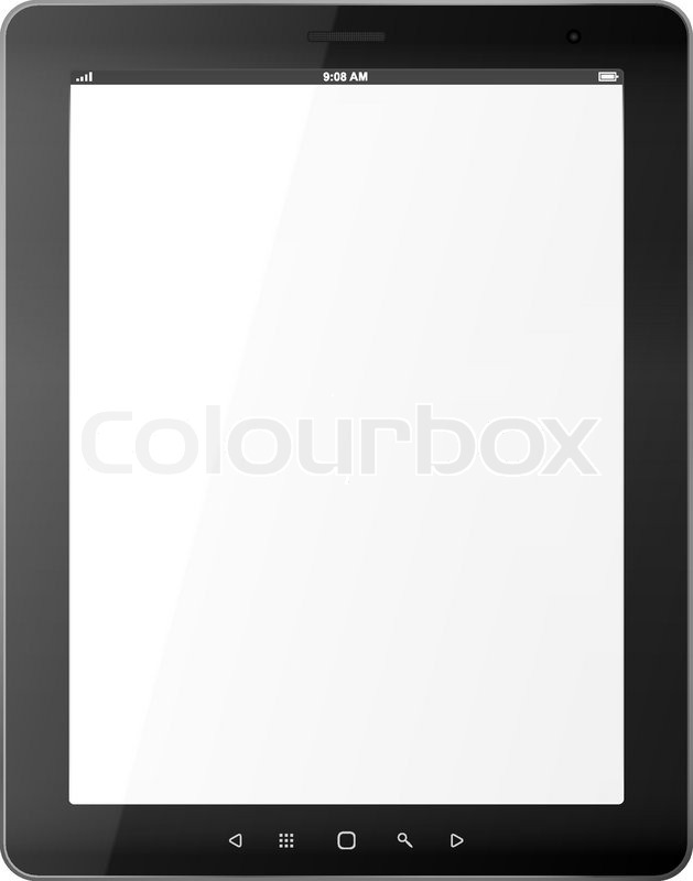 Black abstract tablet pc isolated of white background stock black abstract tablet pc isolated of white background vector voltagebd Choice Image