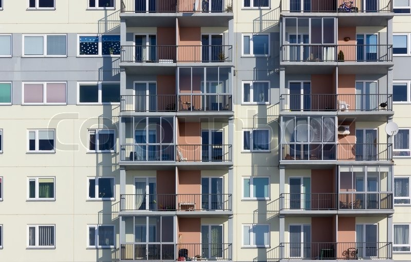 Stock Image Of U0027Windows And Balconies Of A Multiroom Apartment House Of  Mass Buildingu0027