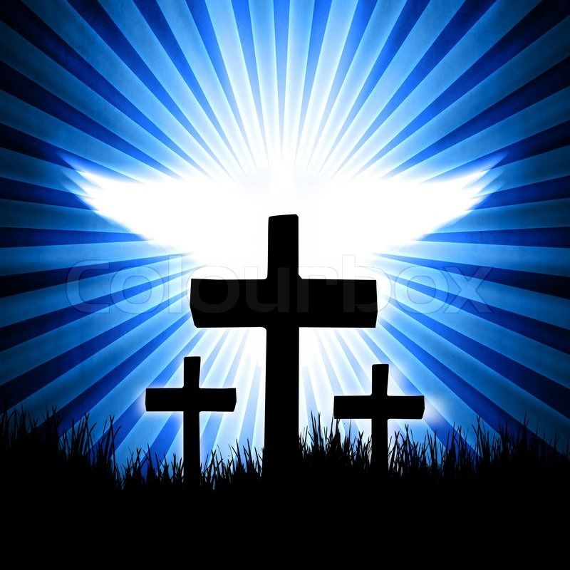 Cross and dove background - photo#10