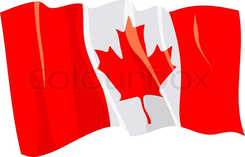 Political waving flag of Canada | Stock Vector | Colourbox