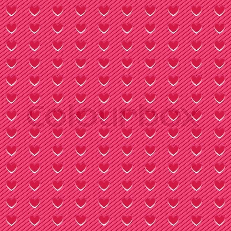 Stock vector of background perforated in shape pink heart corduroy