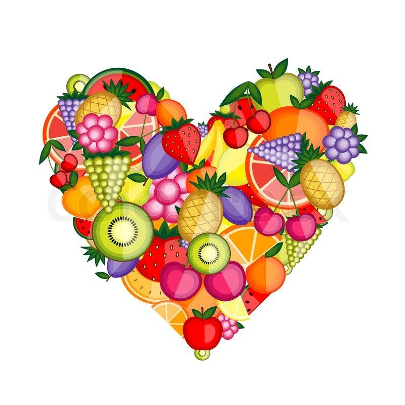 Image result for fruit in love heart