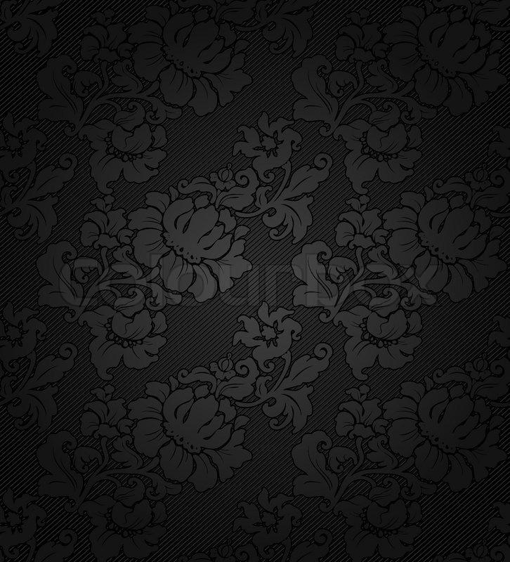 Corduroy Dark Background Ornamental Stock Vector