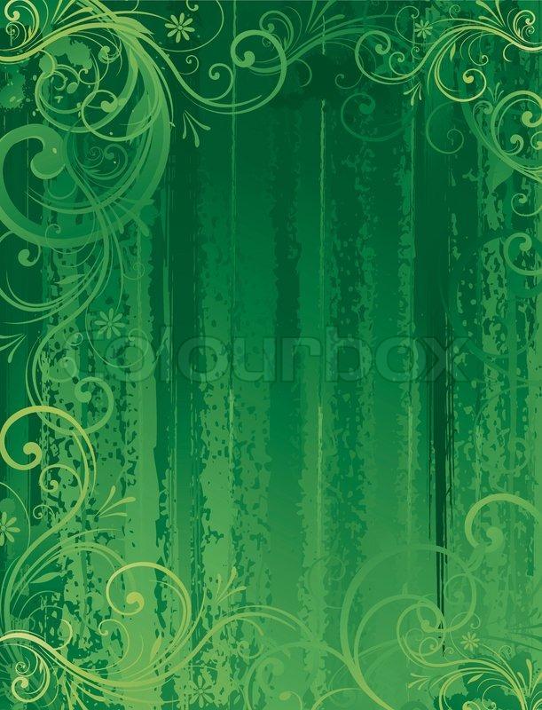 seamless floral hintergrund gr n vektorgrafik colourbox. Black Bedroom Furniture Sets. Home Design Ideas