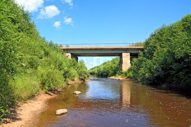 Мост через речку для авто