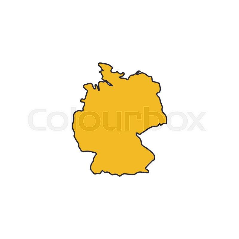 Cartoon Map Of Germany.Germany Map Icon Cartoon Germany Map Stock Vector Colourbox