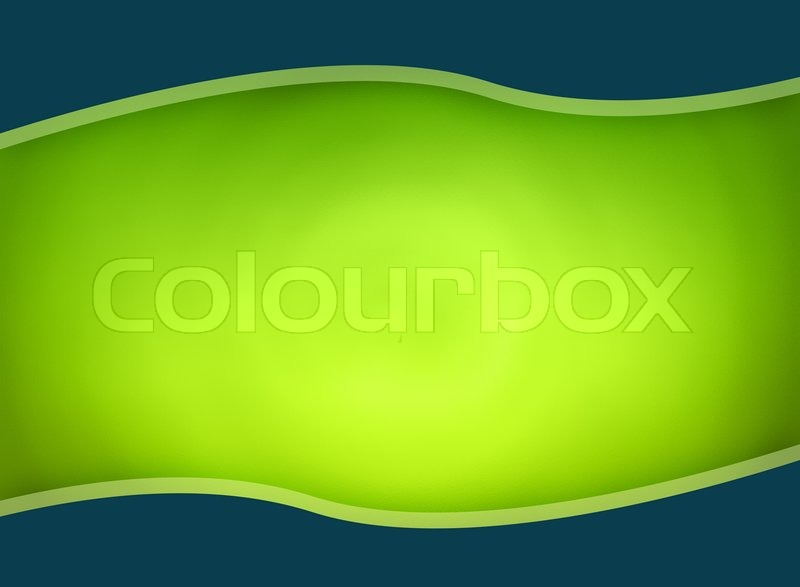 Background template design in green colors | Stock Photo | Colourbox