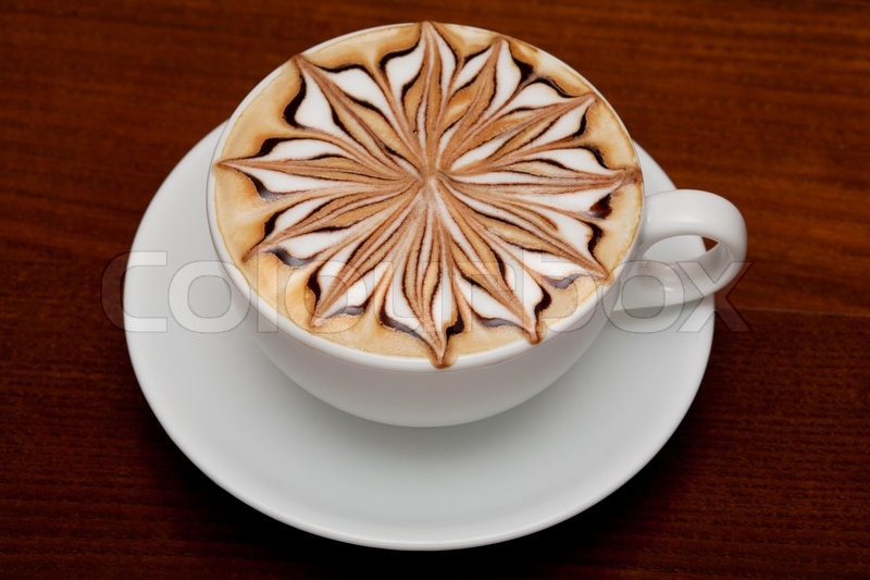 Cappuccino Barista Coffee Cup Stock Photo Colourbox