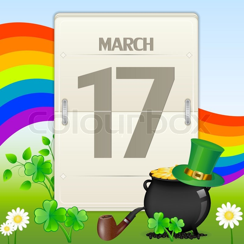 Saint patrick 39 s day calendar stock vector colourbox for Irish mail cart plans