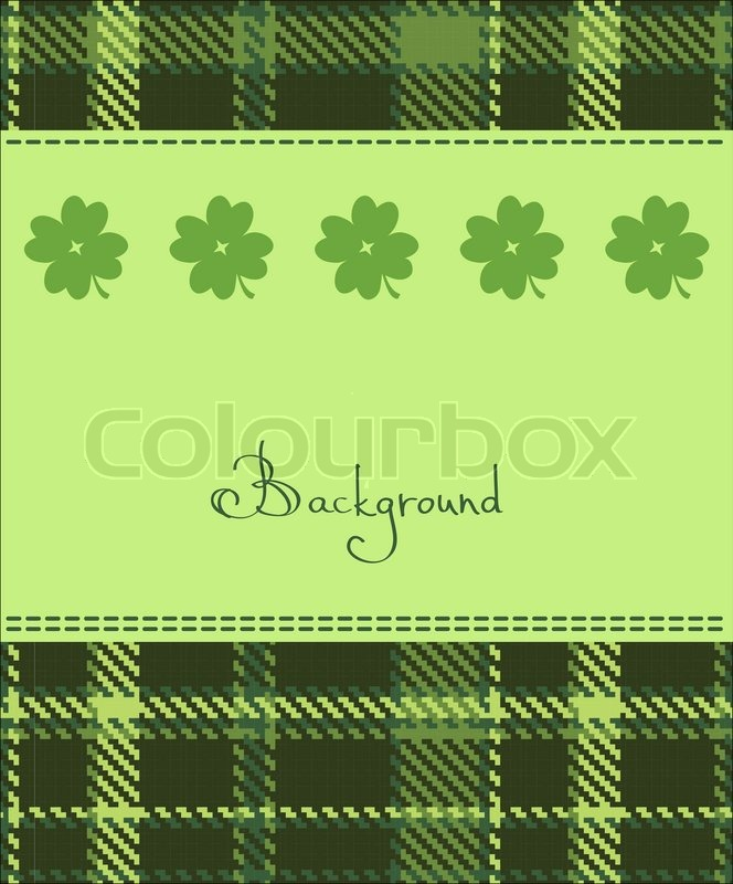 Four Leaf Clover Textile Label Stock Vector Colourbox