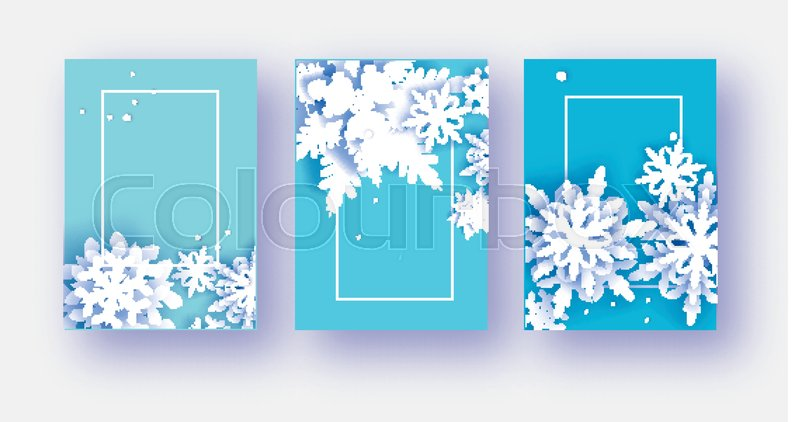 3 merry christmas and happy new year stock vector colourbox colourbox