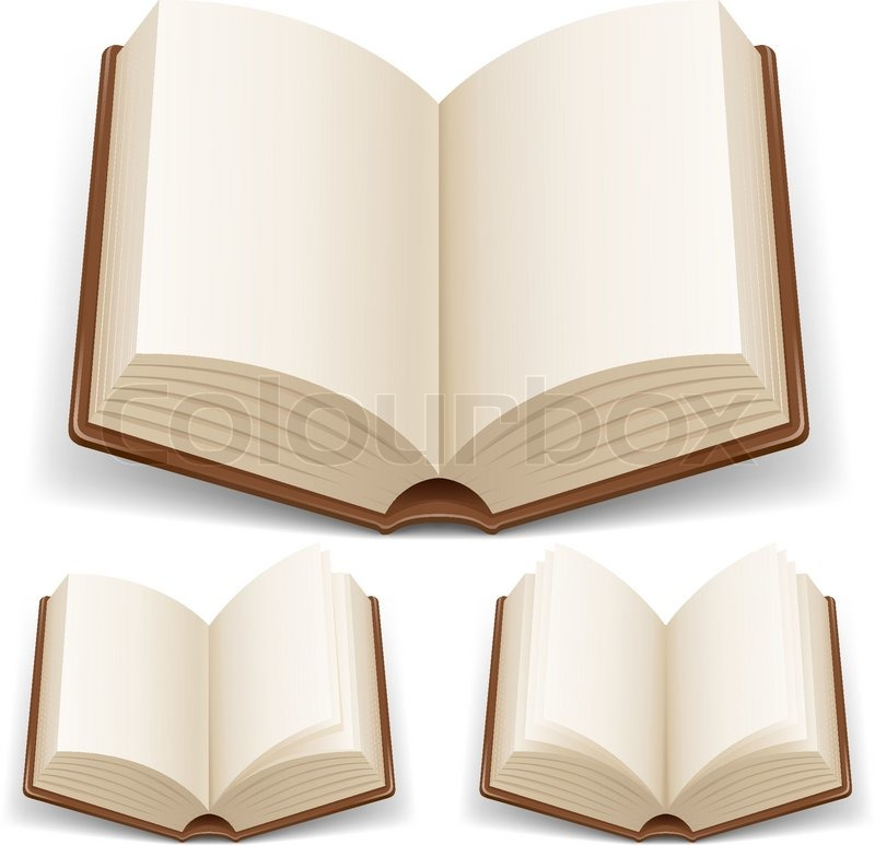 Open Book Background Clipart