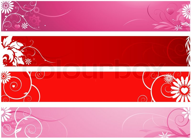 valentine s day banners stock photo colourbox