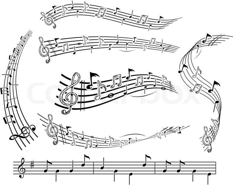 Music Notes on Music Sheet