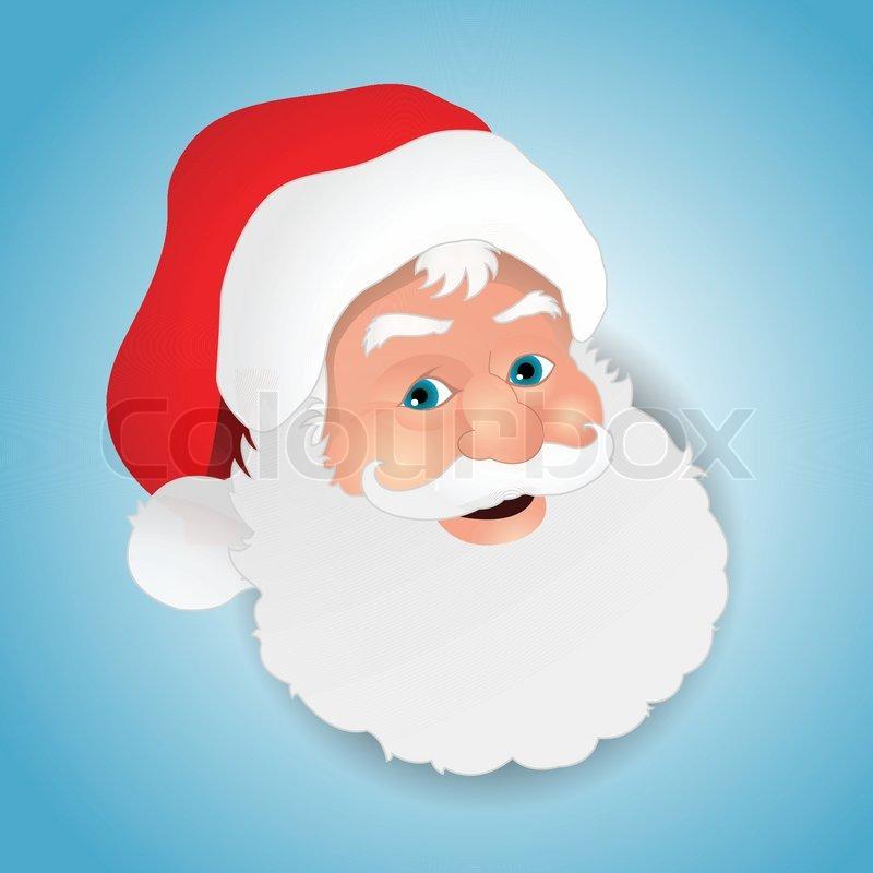 Santa Claus Face Template | New Calendar Template Site