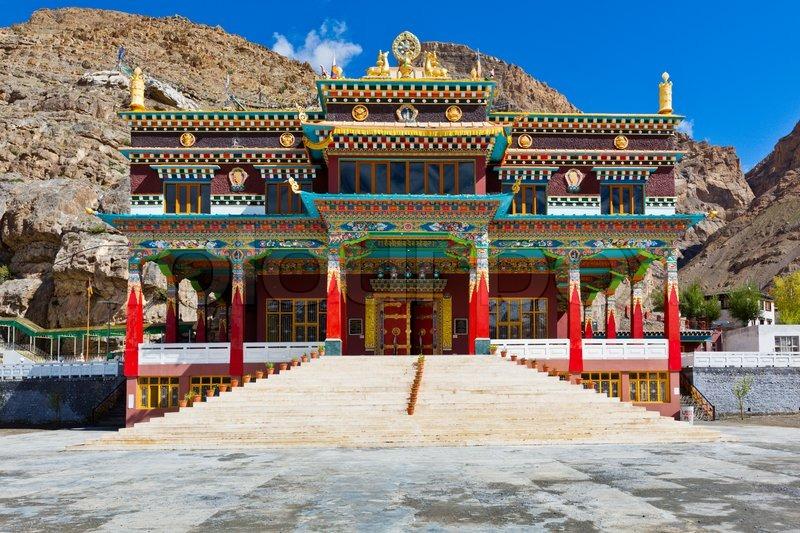 Buddhist monastery in Kaza Spiti Valley, Himachal Pradesh