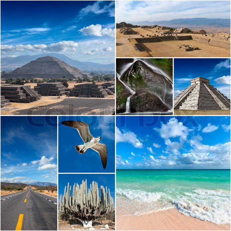 Mexico Images Collage Stock Photo Colourbox