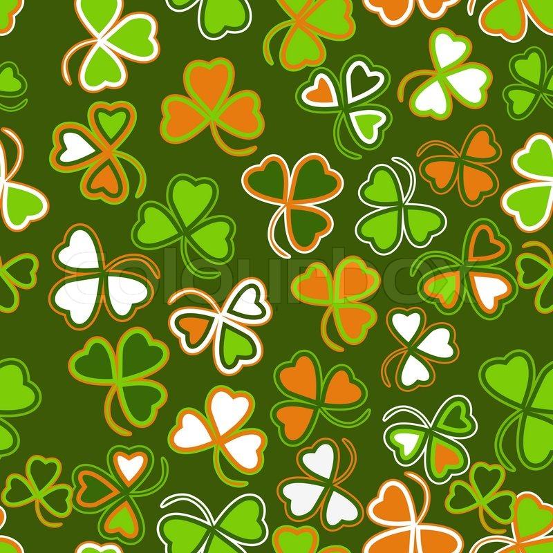 St Patrick Wallpaper: Trefoil Seamless St. Patrick's Day Background.