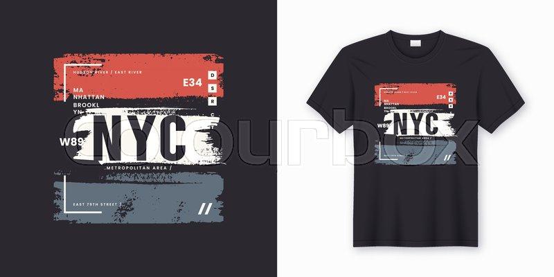 15f4e177 New York City stylish t-shirt and ... | Stock vector | Colourbox