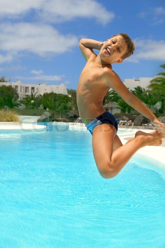 ผลการค้นหารูปภาพสำหรับ the boy swim jump