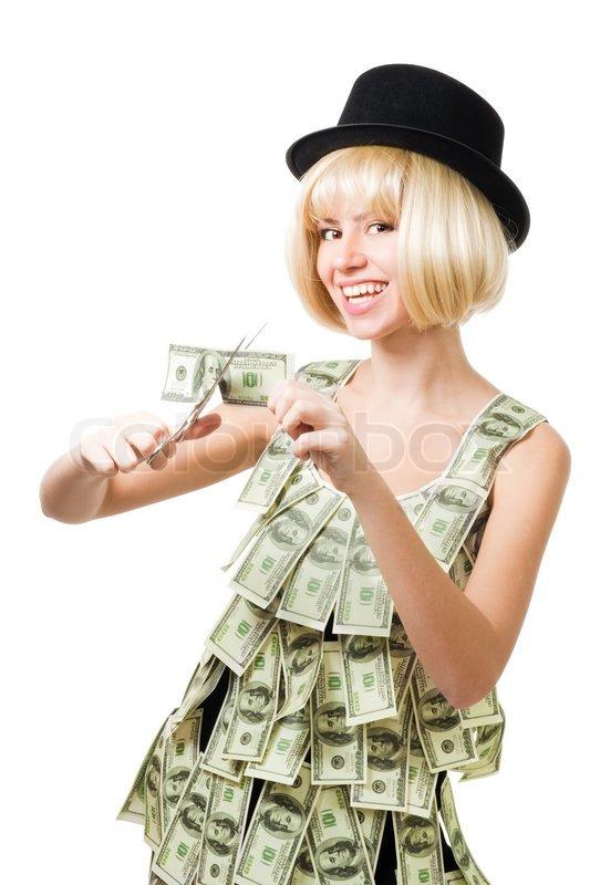 Платье с долларами