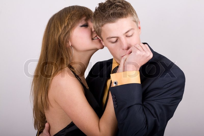 An Image Of Man Kissing S Hand Stock Photo