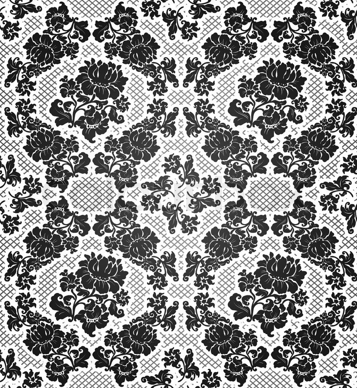 Lace background, ornamental flowers | Vector | Colourbox