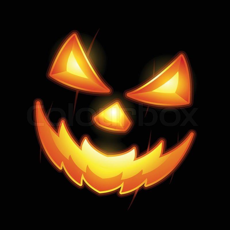 Halloween Jack O Lantern Smiley Face Stock Vector Colourbox
