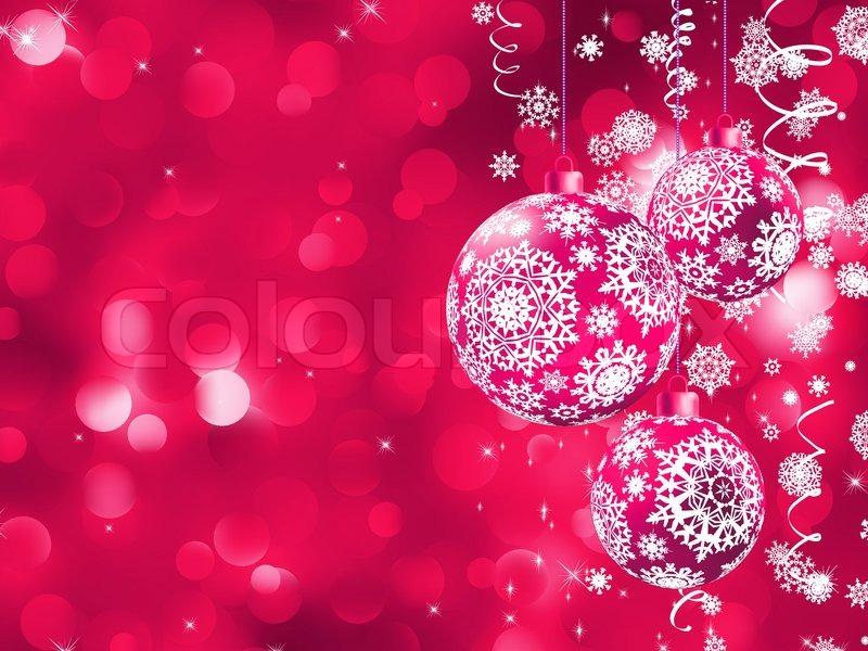 elegant christmas card with balls stock vector colourbox