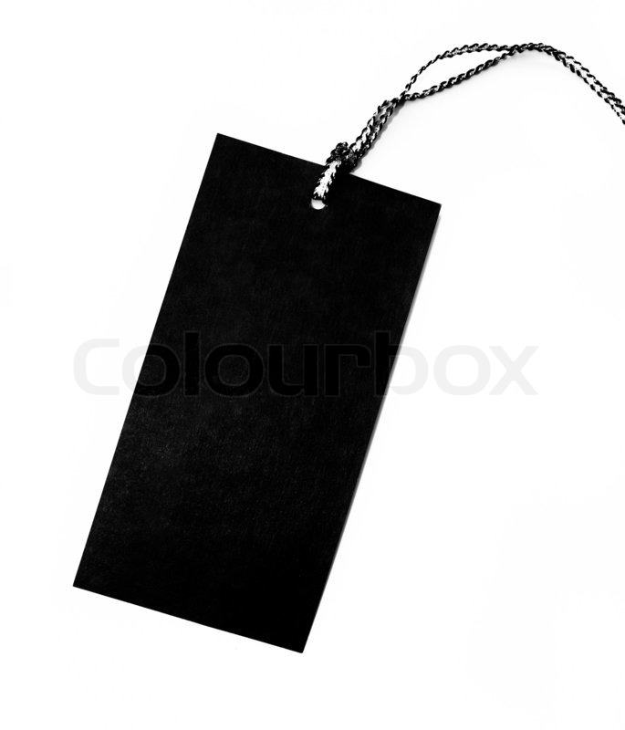 Blank Price Tags On White Background Stock Photo Colourbox