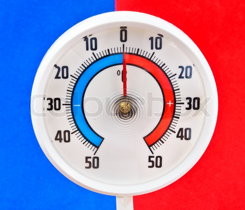 Udendørs termometer Billeder af blå og rød baggrund ... 908702e4f05e0