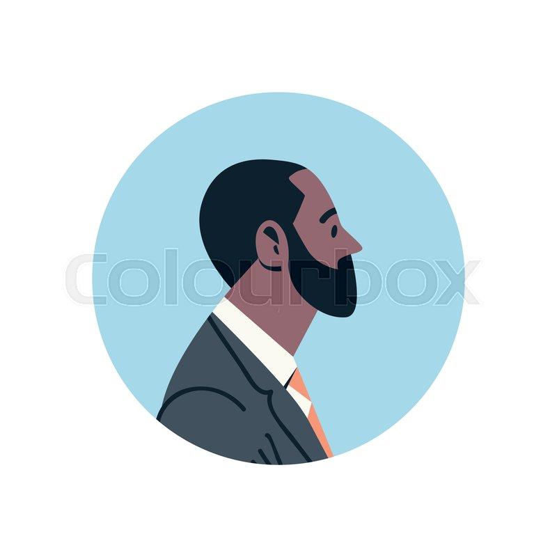 African American Bearded Businessman Stock Vector Colourbox