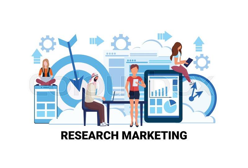 Business People Brainstorming Market Stock Vector