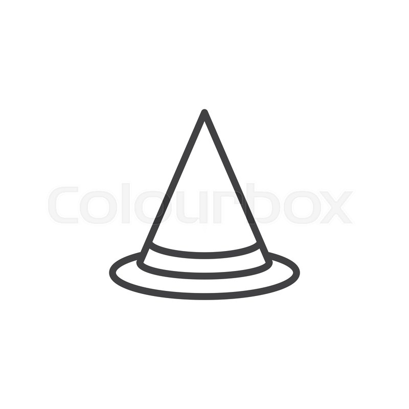 Halloween Witch Hat Outline Icon Stock Vector Colourbox