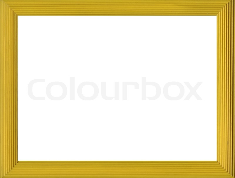 Blank frame isolated on white background | Stock Photo | Colourbox