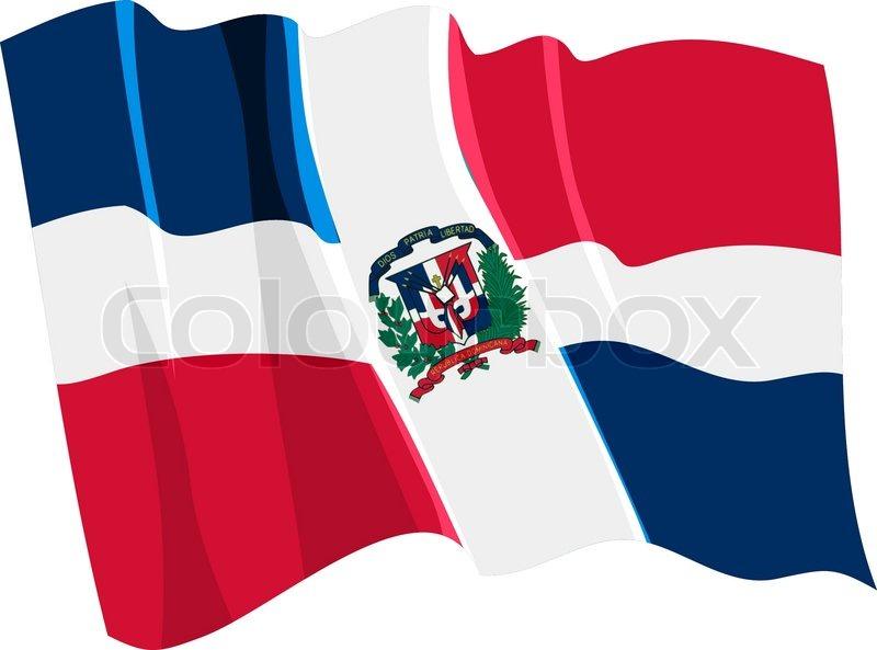 Political Waving Flag Of Dominican Republic Stock Vector Colourbox