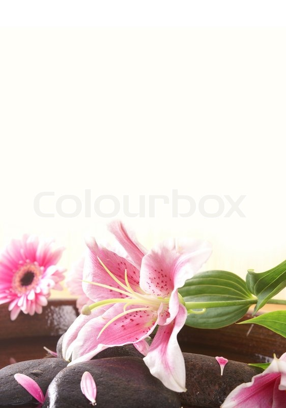 card with spa background stock photo colourbox