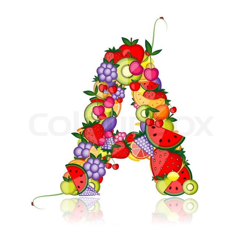 Fruit letter for your design See others in my gallery | Stock ...