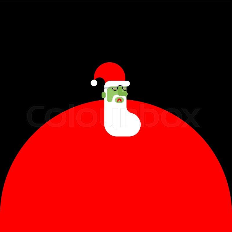 Christmas Zombie Santa.Santa Claus Zombie Christmas Stock Vector Colourbox